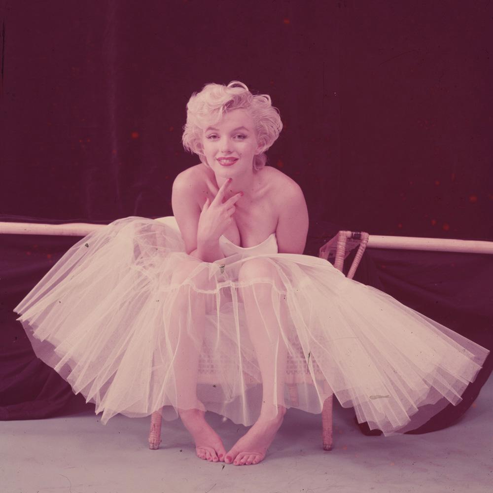 Marilyn Monroe in White Dress (Before Photo Restoration)